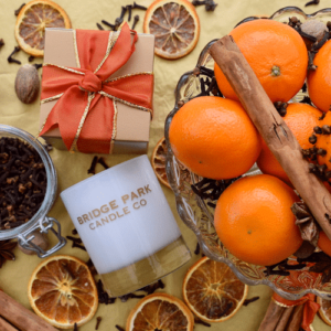 Bridge Park Candle with oranges, cloves, nutmeg and cinnamon
